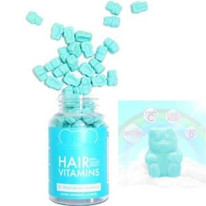 Sugar Hair Vitamins Vegetarian Gummy Biotin Vitamin D, B-12, Folic Acid Vitamin Women's Multi Vegan MultiVitamin