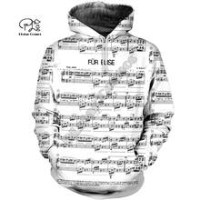 PLstar Cosmos 3D Music Musical Guitar Piano Violin New Fashion Harajuku Streetwear Funny Casual Hoodies/Sweatshirt/Jacket/-a4(China)