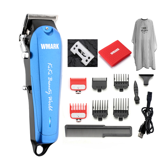 WMARK NG 103Plus Professional cordless Hair cutter Hair Trimmer 6500 rpm hair clipper adjustable length with Stagger Tooth blade