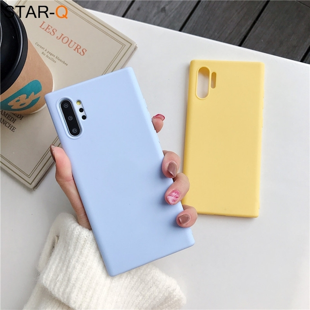 candy color silicone phone case for samsung galaxy note 10 9 8 s10 s10e s9 s8 s20 plus e galaxi matte soft tpu back cover cases 4