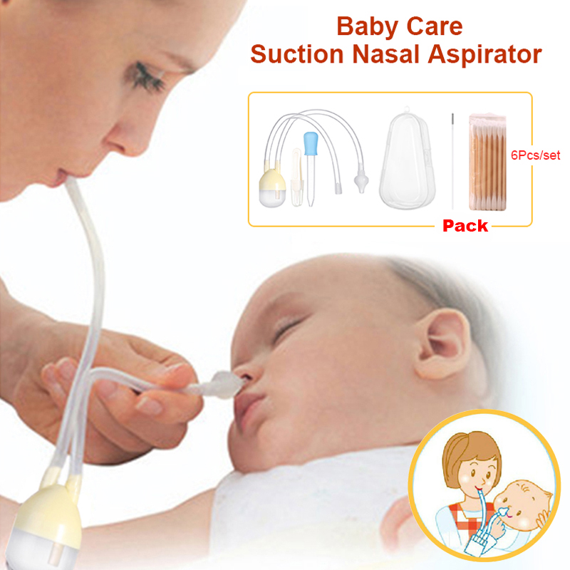 Baby Care Baby Nose Clean Set Infant Vacuum Suction Nasal Aspirator Set Newborn Medicine Dropper Baby Health Care Kits 7Pcs/Set