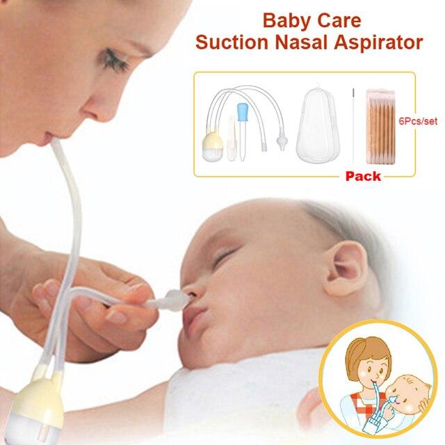 Baby Care Baby Nose Clean Set Infant Vacuum Suction Nasal Aspirator Set Newborn Medicine Dropper Baby Health Care Kits 7Pcs/Set