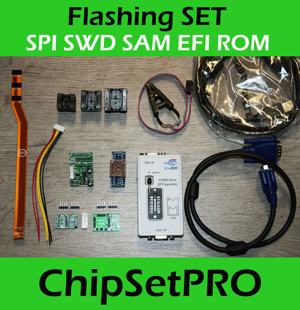 SPI SAM EFI ROM Flash Debug cable Service tool RT809F Icloud remove for Apple Macbook