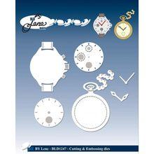 Os dados de corte do metal relógio morrem molde decoração scrapbook papel ofício faca molde lâmina punch stencils morrem