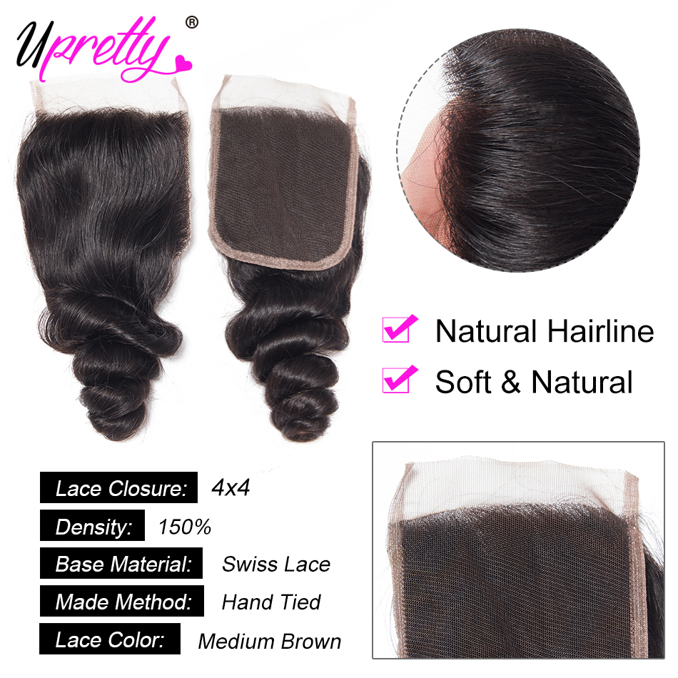 H98325d9ac5d740c2a2672f2c5d9a03a5l Upretty Hair Loose Wave Bundles With Lace Closure 6x6 5x5 Closure With Bundles Brazilian Remy Human Hair Bundles With Closure