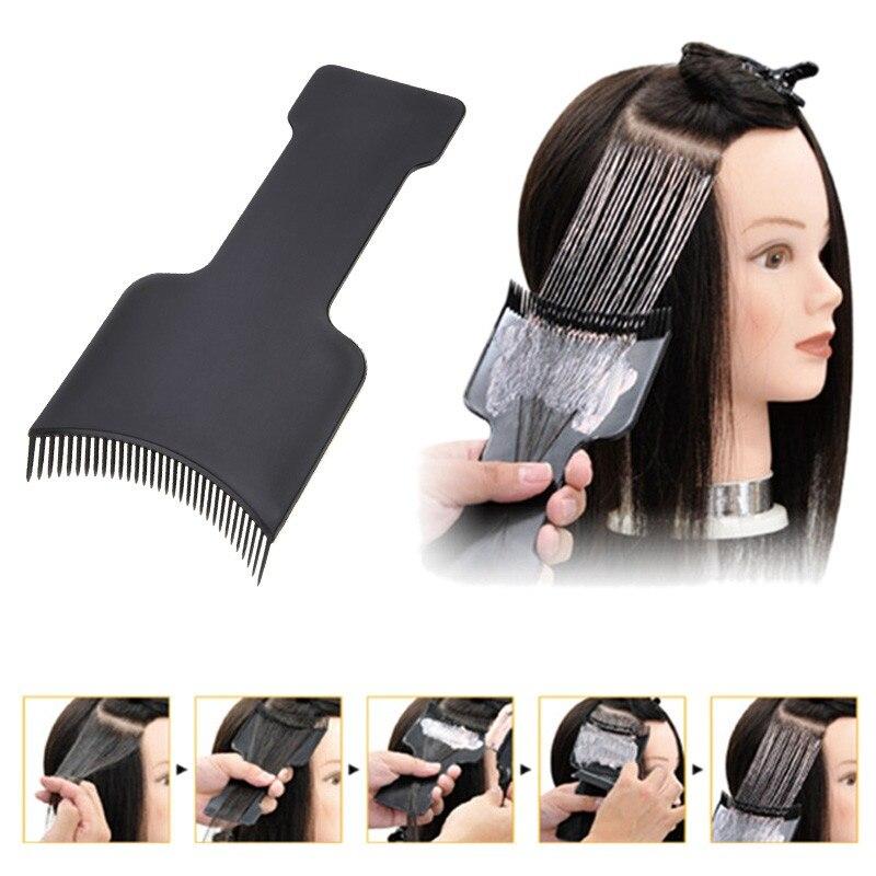 Professional Salon Hair Coloring Dyeing Applicator Brush Comb DIY Dispensing Tinting Highlighting Board Pro Salon Styling Tool