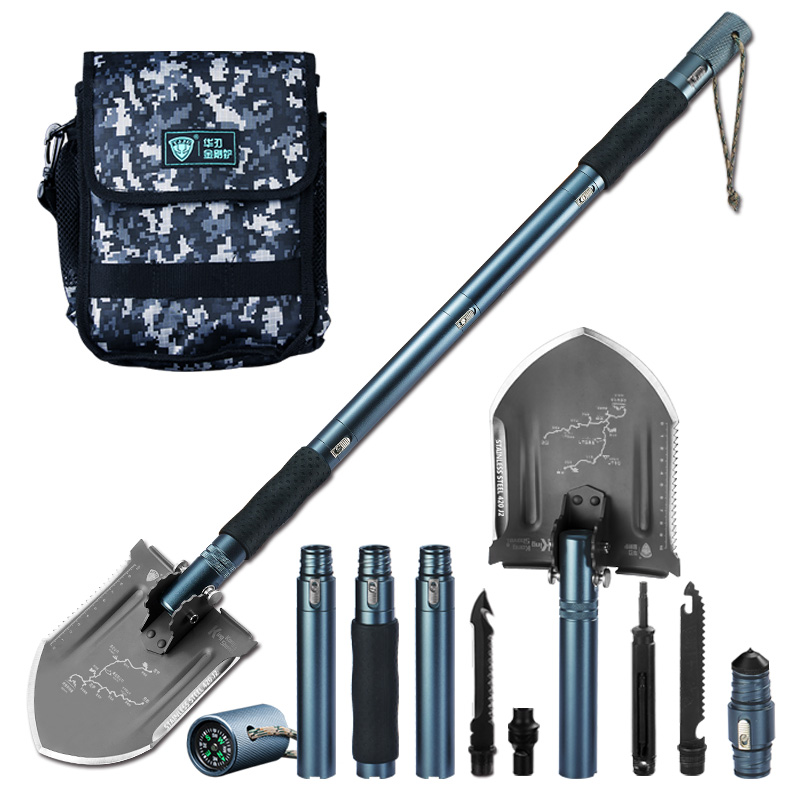 Extendable Outdoor Military Amy Spade Folding Camping Folding Camping Shovel Multi-purpose Engineering Shovel Kit Survival Tool