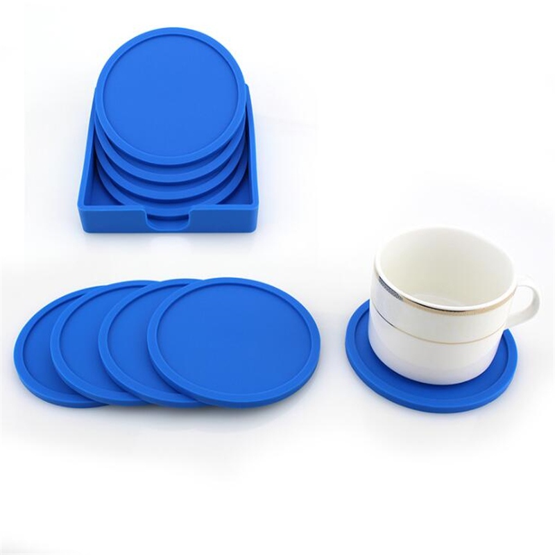Silicone NonSlip Placemat 10cm Round Insulation Waterproof Cup Mat Tableware Pad