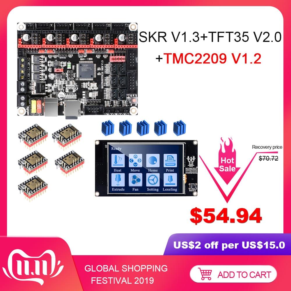 BIGTREETECH SKR V1.3 3D Printer Board+TMC2209 UART Driver+TFT35 V2.0 Touch Screen VS MKS GEN L TMC2208 TMC2130 3D Printer Parts