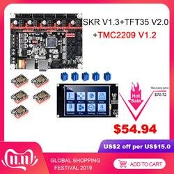 Bigtreetech skr v1.3 placa de impressora 3d + tmc2209 uart driver tft35 v2.0 tela sensível ao toque vs mks gen l tmc2208 tmc2130 peças de impressora 3d