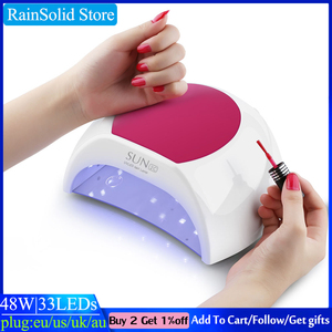 Image 1 - HOT SUN 2C LED nail lamp UV lamp nail 48W/80W SUNUV is suitable for all gel 33 beads LED display nail dryer automatic induction