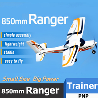 FMS RC Airplane Plane 850mm Ranger Trainer Beginner 4CH 2S PNP Durable EPO Small Size Cheap Easy Model Hobby Aircraft Avion
