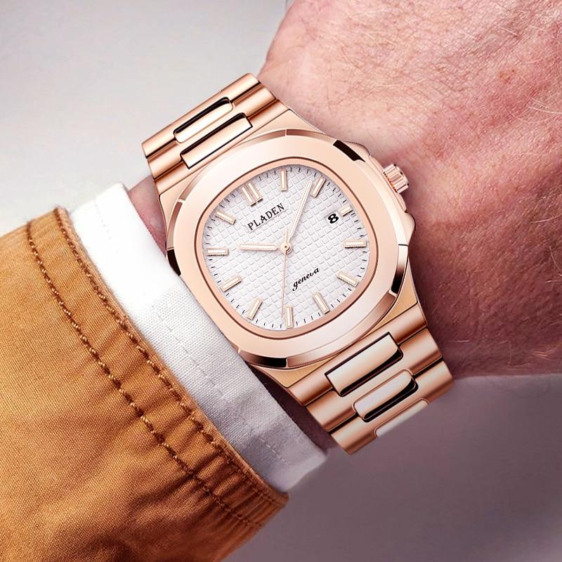 Free Shipping Men's Watch Top Brand Luxury Stainless Steel Patek Waterproof Luminous Business Import Japan Movement Quartz-watch