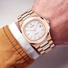 Relógio masculino de aço inoxidável, relógio masculino de marca luxuosa impermeável de quartzo
