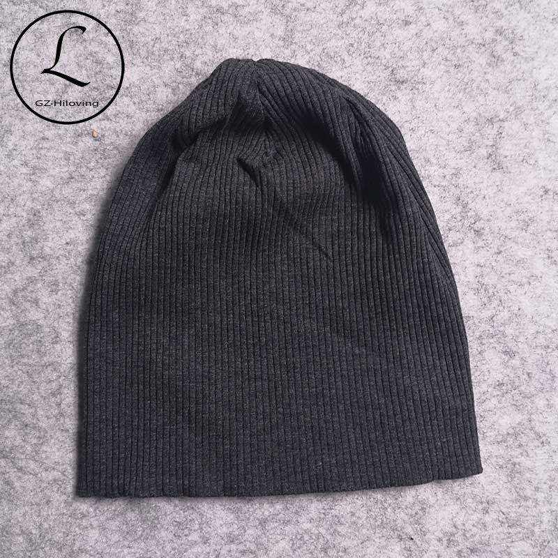 Casual Cotton Ribbed Beanies Hats And Caps For Women Men New Autumn Winter Slouch Skullies Hats Ladies Plain Oversize Gorras