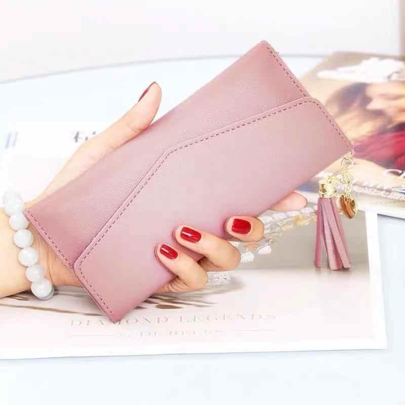 Moda das mulheres carteiras zíper bolsas branco cinza vermelho seção longa embreagem carteira macio couro do plutônio saco de dinheiro