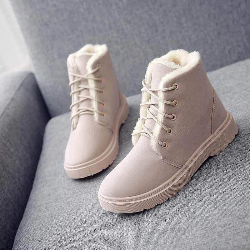 Kış platformu bayan ayak bileği kar siyah avustralya çizmeler kadınlar için 2019 ayakkabı kadın zapatos de botas mujer martin patik topuklu