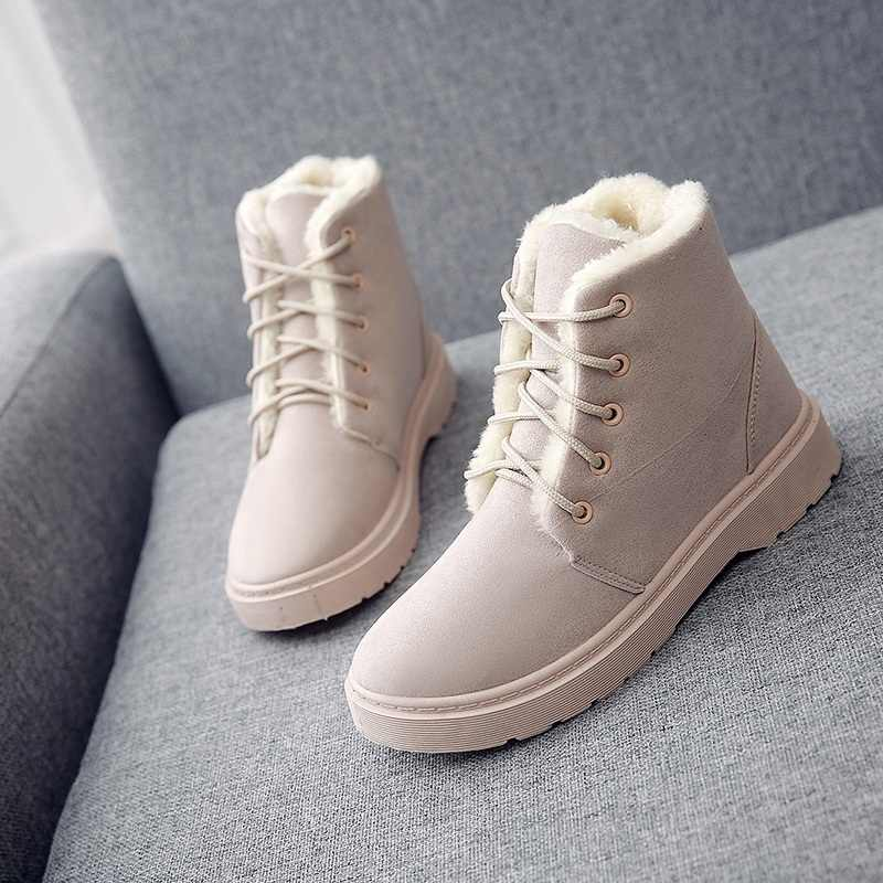 Winter plattform frauen knöchel schnee schwarz australian stiefel für frauen 2019 schuhe frau zapatos de botas mujer martin booties heels