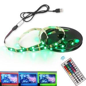 5 В USB RGB светодиодный фонарь 5050 Bluetooth пульт дистанционного управления гибкий неоновый светодиодный фонарь полоски лента лампа 5 м для ТВ фона...