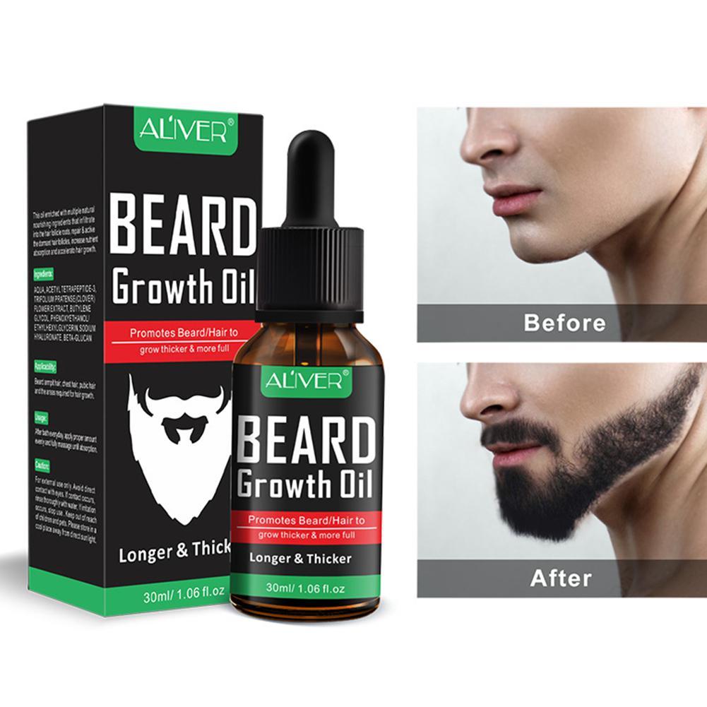 MeterMall Beard Essentital Oil Beard Growth Enhancer Pure Natural Nutrients Beard Oil For Men Facial Nutrition Beard Care Kit