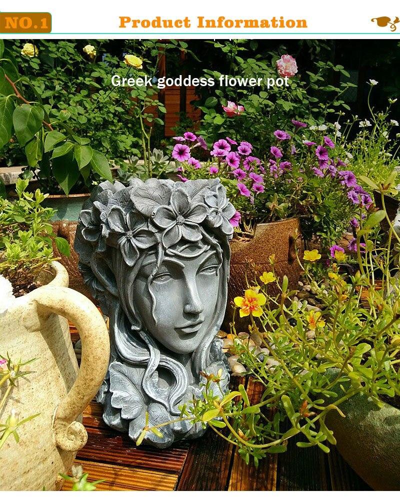Deusa grega cabeça bonsai suculenta vasos de