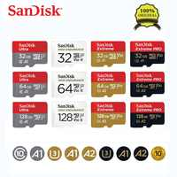 Sandisk 100% Original Micro sd tarjeta de memoria TF TARJETA DE Class10 U1 U3 A2 16GB 32GB 64GB 128GB 256GB cartao de memoria de tarjeta de Video