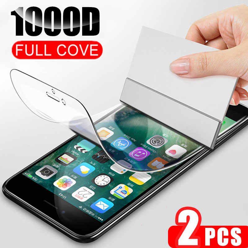 2Pcs 1000D Hydrogel Film Screen Protector For iPhone 7 8 Plus 6 6s Plus Soft Protective Film On iPhone 11 X XR XS Max 11 Pro Max