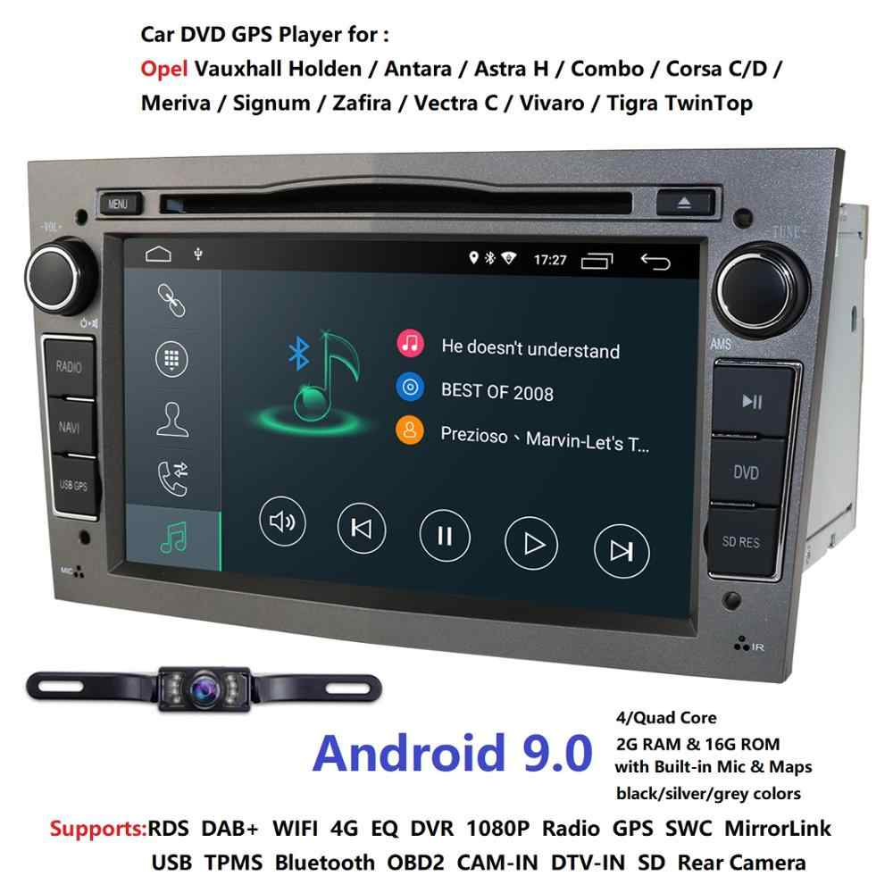 "Quad Core HD 2 Din 7 ""Android 9.0 Opel Vectra Antara Zafira Corsa Meriva Astra voiture DVD GPS avec 4G/WIFI PC Audio TV Radio 2 grammes"