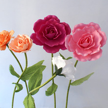 Rose Artificial Flowers PE Large Foam fake flowers wall Wedding Decoration Backdrop Display Road Lead Party Home