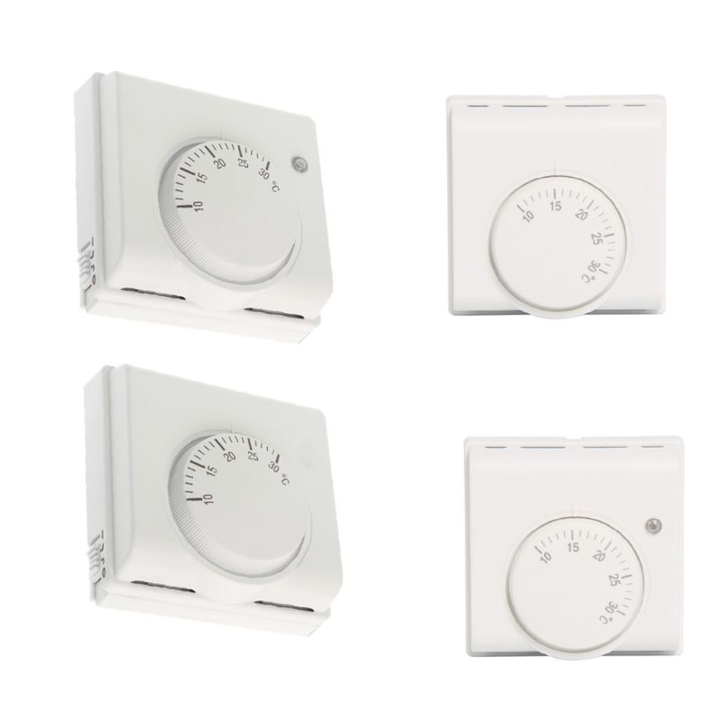 220V 6A Mechanical Room Thermostat Temperature Controller Air Condition And Floor Gas Boiler Heating