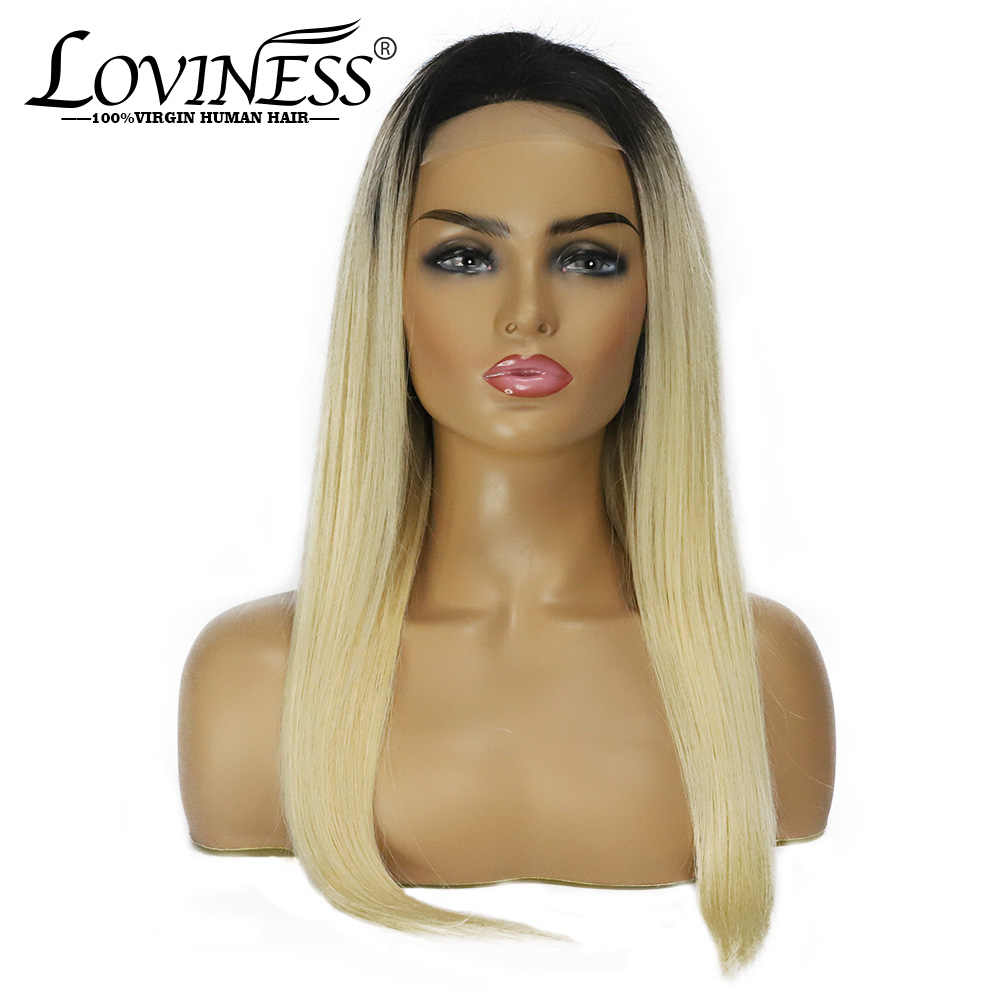 Honey Blonde Pre plucked Lace Front Human Hair Wig 4*4 1b 613 Brazilian Straight Remy Virgin Ombre Frontal Wigs for Black Women