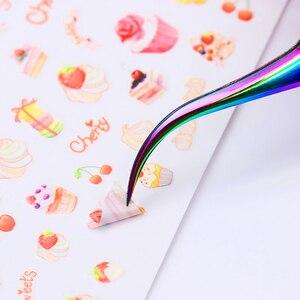 Image 3 - 1pcs Chameleon Rainbow Nail Cuticle Pusher Clipper Scissor Nipper Tweezer Picker Steel  Nail Art Tools