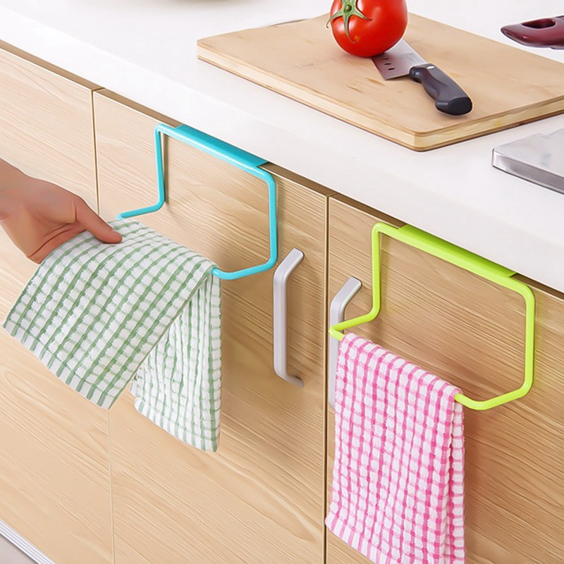 Kitchen Organizer Towel Rack Hanging Holder Bathroom Cabinet Cupboard Hanger Shelf For Kitchen Supplies Accessories Cocina