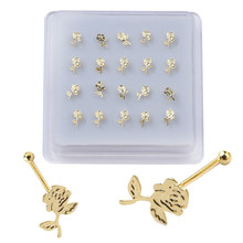 Jewelry Studs Nose-Rings Piercing for Women Girl Puncture-Body Universal 20pieces Ball-Pin-End
