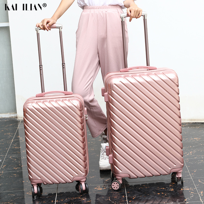 24 Inch PC Travel Suitcase Rolling Luggage 20'' Carry On Trolley Luggage Cabin Suitcase Fashion Women Bag Hardside Luggage Box