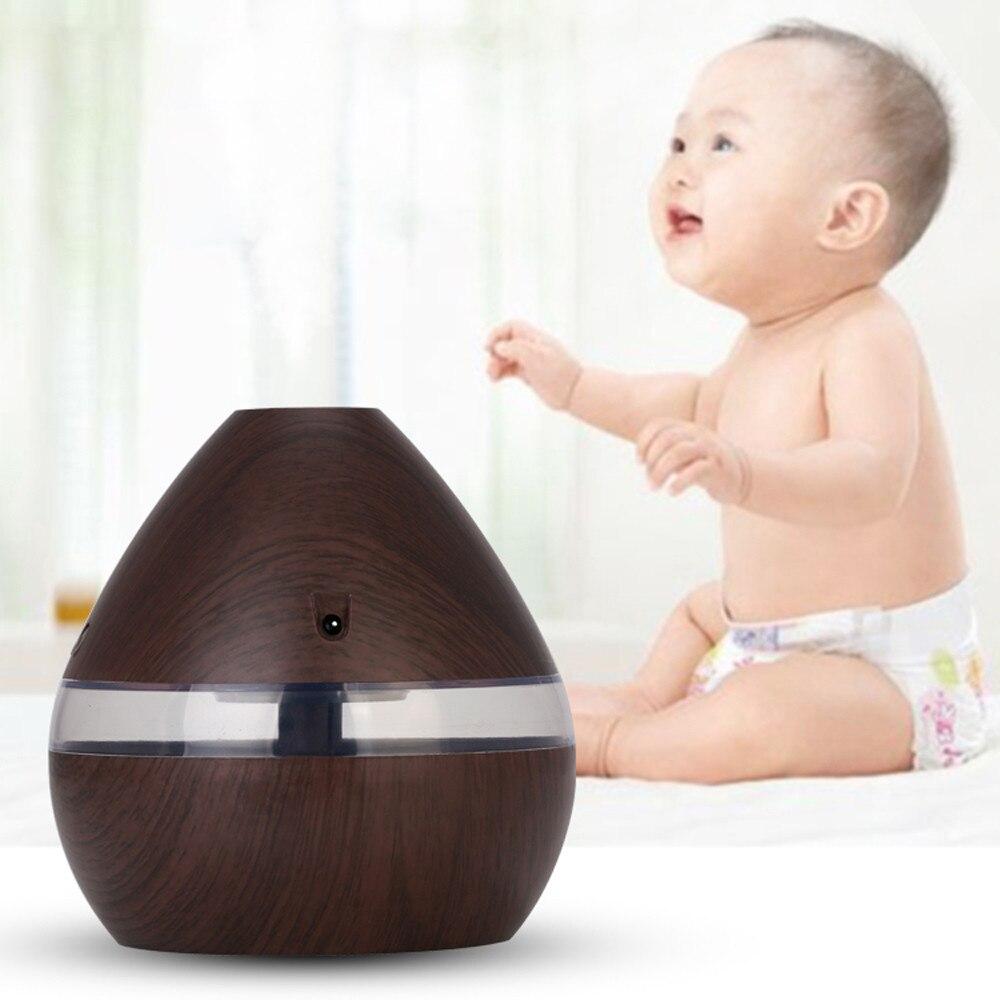 2020 Humidifier Aroma Essential Oil Ultrasonic Wood Grain Air Humidifier USB Mini Mist Maker Light Car For Home#30