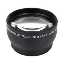 Объектив видеокамеры 52 мм 2X Увеличение HD телеобъектив конвертер для 52 мм Крепление камеры Объективы Аксессуары