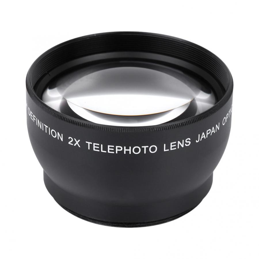 Camcorder lens 52mm 2X Magnification HD Tele Converter Telephoto Lens for 52mm Mount Camera Lenses Accessories