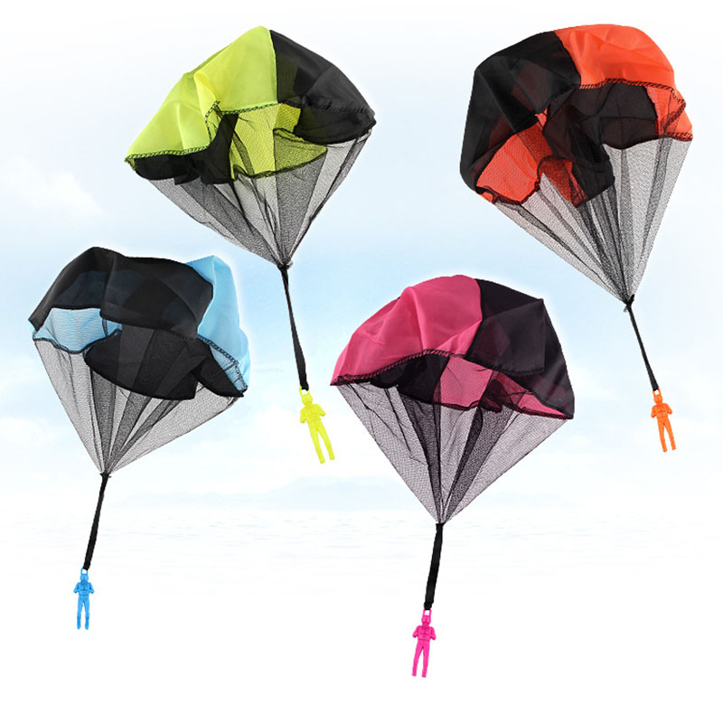 Sports Toy Children Outdoor Sports Have Fun Play Parachute with Figure Soldier