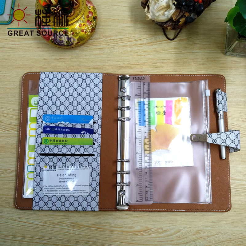 Office & School Supp. ... Filing Products ... 32537105532 ... 3 ... Padfolio Conference Fefillable Folder Clear Pen Bag Color Stickers Fashion Design 6 Rings Binder Notebook 2020 Calendar ...