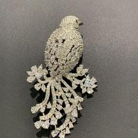 bird brooch pins copper with cubic zircon animal fashion women jewelry for coat men jewelry unisex brooch free shipping
