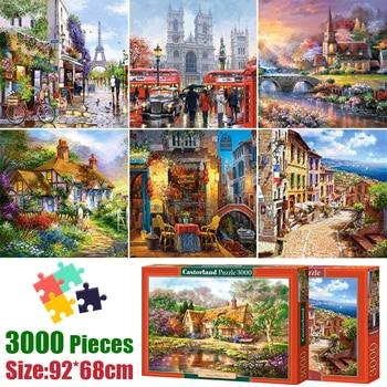 Rompecabezas de 3000 piezas, imagen de ensamblaje, rompecabezas de paisaje de 92*68 cm, juguetes para adultos y niños, juegos educativos