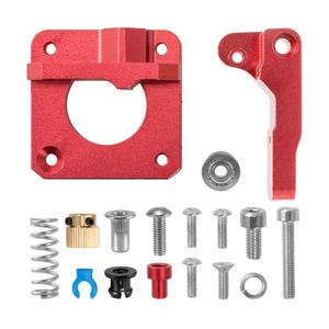 CREALITY 3D Red Metal MK8 Extruder Aluminum Alloy Block Bowden Extruder 1.75mm Filament for CREALITY 3D Ender3 CR-10 CR-10(China)