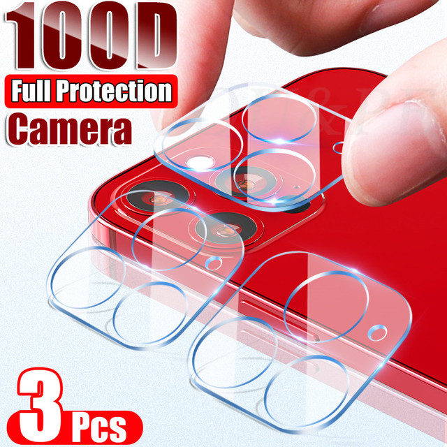 3Pcs Camera Tempered Glass For iphone 11 12 Pro Max X XR XS MAX Mini Lens Screen Protector On iPhone 6 6S 7 8 Plus SE 2020 Glass 2