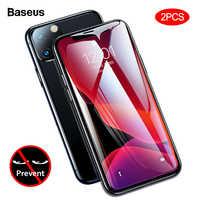 Baseus 2 piezas 0,23mm Protector de pantalla para iPhone 11 Pro Max Protección de Privacidad película de vidrio templado de protección completa para iPhone