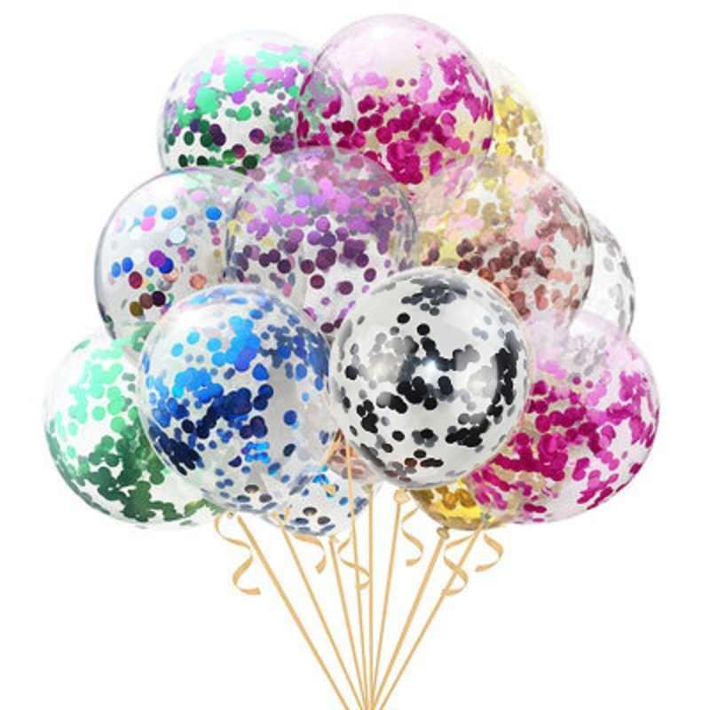 10 pçs/lote 12 polegada Glitter Confetti Balões De Látex de Aniversário de Casamento Decoração Do Partido Dos Miúdos Do Bebê Chuveiro Decoração Suprimentos Balões de Ar