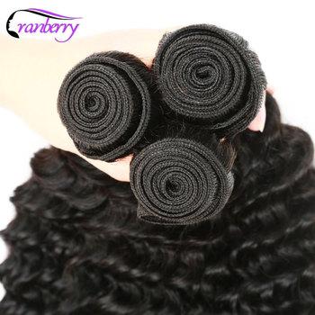 CRANBERRY Hair Deep Wave Human Hair Bundles With Closure 4 pcs/lot Brazilian Hair Weave Bundles With Closure Remy Hair Extension 5