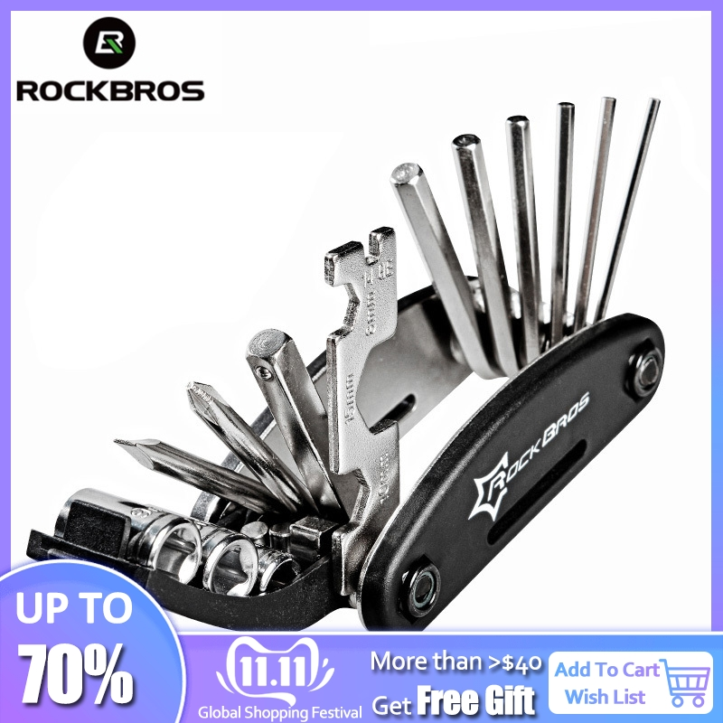 ROCKBROS 16 In 1 Multifunction Bicycle Repair Tools Kit Hex Spoke Cycling Screwdriver Tool MTB Mountain Cycling Bike Repair Tool