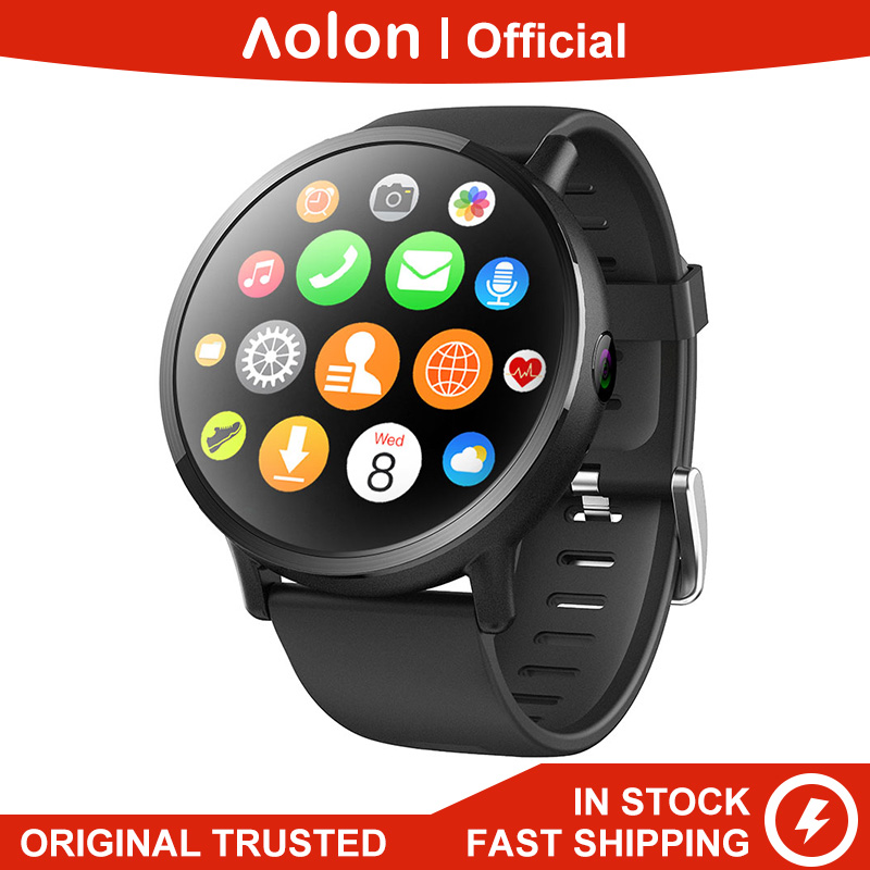 Aolon D19 4G 3G 2G WIFI SIM Watch <font><b>Quad</b></font> Core Heart Rate Monitor <font><b>800W</b></font> Camera GPS 4G Android OS Smart Watch image