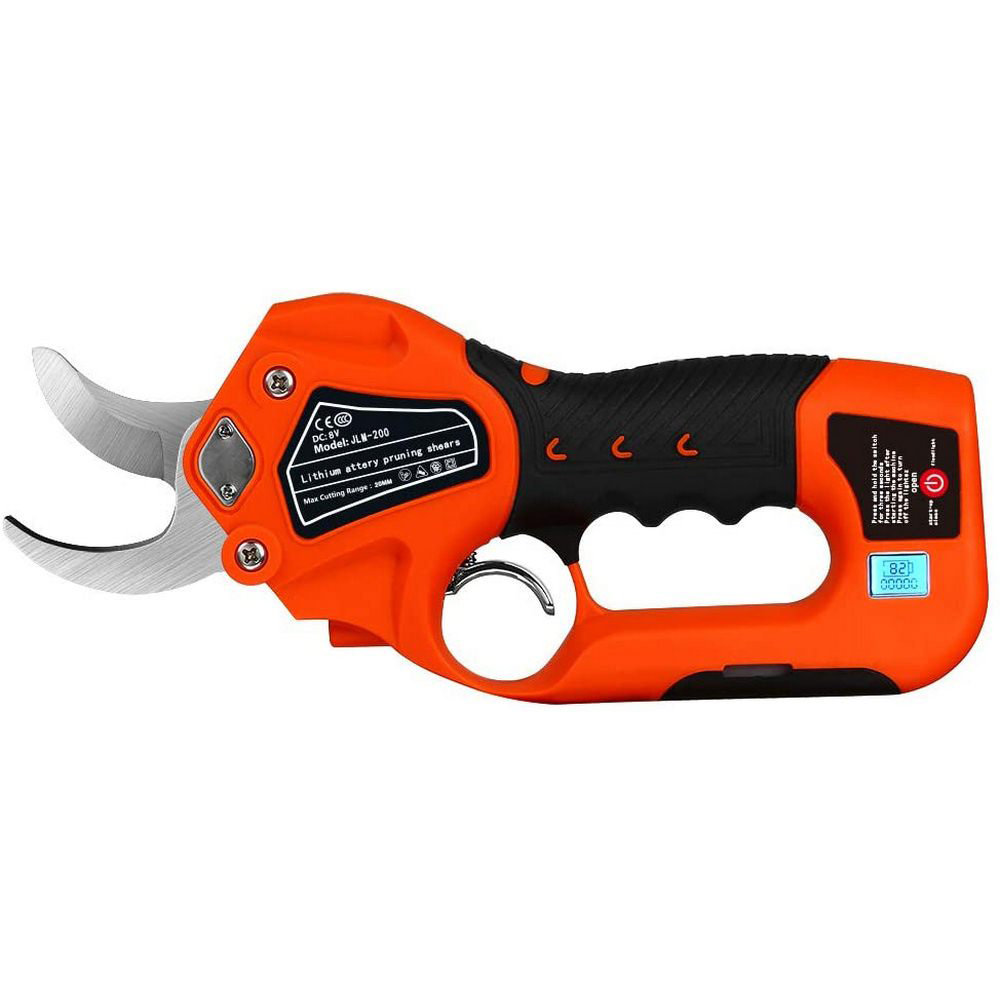 Tools : Electric Pruning Shears Cordless Branch Cutter Rechargeable 6 Lithium Battery 1 2 Inch Cutting Diameter Garden Pruning Tool